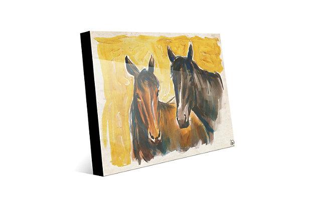 Free Spirits 24X36 Acrylic Wall Art, Yellow/Brown, large