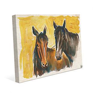 Free Spirits 24X36 Canvas Wall Art, Yellow/Brown, large
