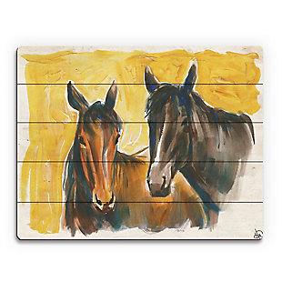 Free Spirits 20X24 Wood Plank Wall Art, Yellow/Brown, rollover