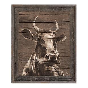 Audelia Epsilon 24X36 Barnwood Framed Canvas, Brown/Beige, rollover