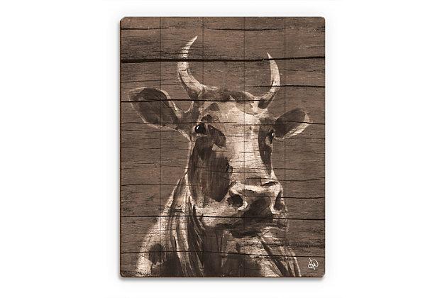 Audelia Epsilon 20X24 Wood Plank Wall Art, Brown/Beige, large