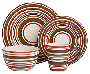 Home Accents 16-Piece Dinnerware Set, , large