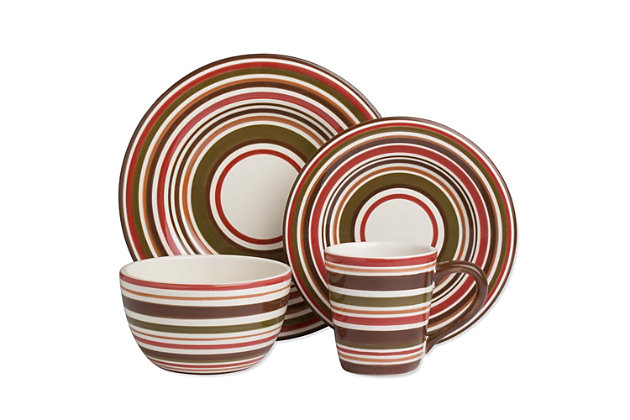 Home Accents 16-Piece Dinnerware Set by Ashley HomeStore, Multi