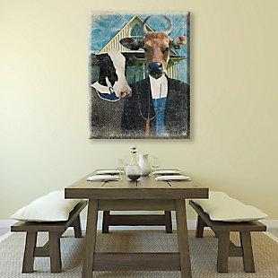 Gothic Cows Alpha 24x36 Canvas Wall Art, Multi, large
