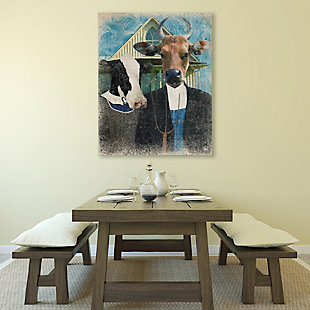 Gothic Cows Alpha 11X14 Metal Wall Art, , large