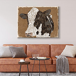Dottie The Cow Epsilon 24x36 Canvas Wall Art, Multi, large