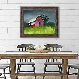 After The Storm Omega 24x36 Barnwood Framed Canvas, Multi, large