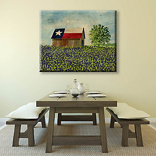 Texas Barn Alpha 24x36 Canvas Wall Art, Multi, large