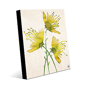 Wild Wild Flowers Alpha 24X36 Acrylic Wall Art, Yellow/Green, rollover