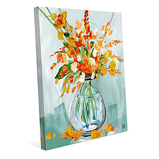 Floral Perfection Tiger 30X40 Canvas Wall Art, , rollover