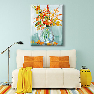 Floral Perfection Tiger 30X40 Canvas Wall Art, , large