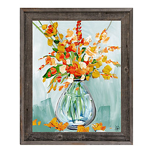 Floral Perfection Tiger 24X36 Barnwood Framed Canvas, , rollover