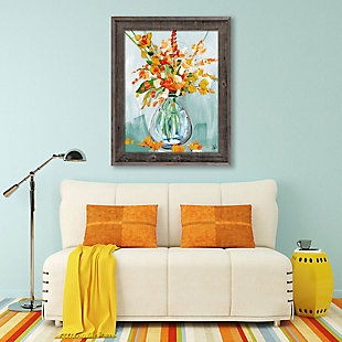 Floral Perfection Tiger 24X36 Barnwood Framed Canvas, , large