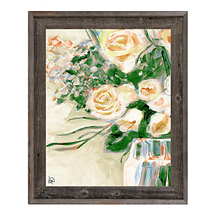 Purity Roses Blonde 30X40 Barnwood Framed Canvas, , rollover