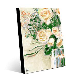 Purity Roses Blonde 24X36 Metal Wall Art, Yellow/Orange/Green, large