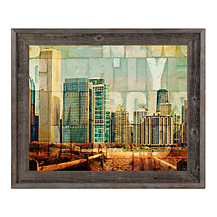 Urban City 30 x 40 Barnwood Framed Canvas, , rollover