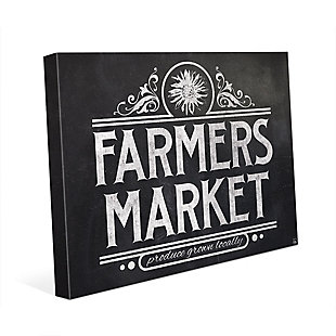 Farmers Market Sign Chalkboard 11 x 14 Canvas Wall Art, , rollover