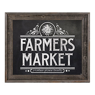 Farmers Market Sign Chalkboard 24 x 36 Barnwood Framed Canvas, , rollover