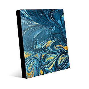 Lapis and Corundum 24 x 36 Acrylic Wall Art, Blue/Yellow, large