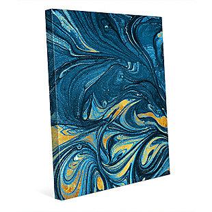 Lapis and Corundum 24 x 36 Canvas Wall Art, Blue/Yellow, rollover