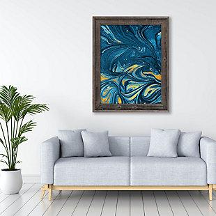 Lapis And Corundum 24 X 36 Barnwood Framed Canvas, Blue/Yellow, large