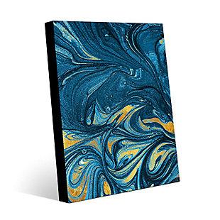 Lapis and Corundum 24 x 36 Metal Wall Art, Blue/Yellow, rollover