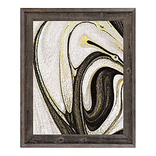 Howlite and Onyx 24 x 36 Barnwood Framed Canvas, Black/White/Yellow, rollover