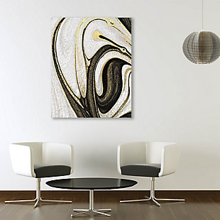 Howlite and Onyx 20 x 30 Metal Wall Art, , large