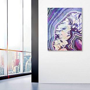 Crystal Geode Amethyst 24 x 36 Acrylic Wall Art, Purple/White/Blue, large