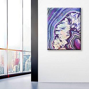 Crystal Geode Amethyst 24 x 36 Canvas Wall Art, Purple/White/Blue, large