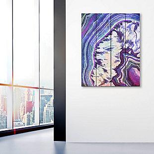 Crystal Geode Amethyst 20 x 24 Wood Plank Wall Art, Purple/White/Blue, large