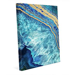 Gold Trimmed Geode Sapphire 30 x 40 Canvas Wall Art, , rollover