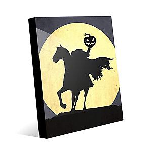 Headless Horseman 24 x 36 Acrylic Wall Art, Black/Yellow, large