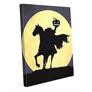 Headless Horseman 24 x 36 Canvas Wall Art, Black/Yellow, rollover