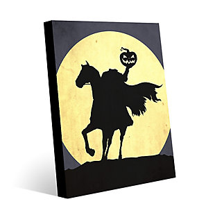Headless Horseman 24 x 36 Metal Wall Art, Black/Yellow, rollover