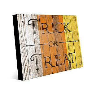Wood Trick or Treat Alpha 24 x 36 Acrylic Wall Art, Orange/White/Yellow, large