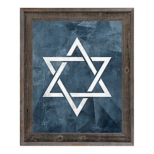Star of David - Slate Blue 24 x 36 Barnwood Framed Canvas, , rollover