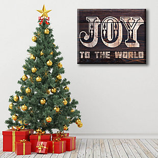 Joy to the World - Bold Wood 16 x 20 Canvas Wall Art, , rollover