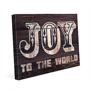 Joy to the World - Bold Wood 20 x 24 Canvas Wall Art, , large