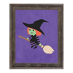 Witch - Purple 24 x 36 Barnwood Framed Canvas, Multi, large