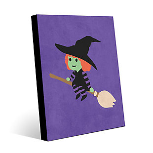 Witch - Purple 20 x 24 Wood Plank Wall Art, Multi, large