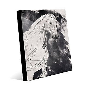 Sketchy Horse Base Right 24X36 Acrylic Wall Art, Black/Gray/White, large