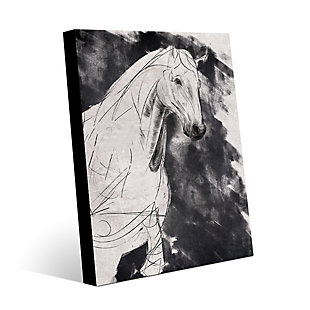 Sketchy Horse Base Right 16X20 Metal Wall Art, , large