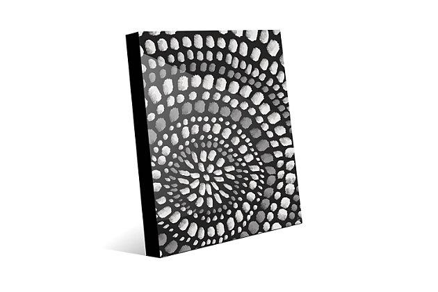Radiant Dots White On Black 24X36 Acrylic Wall Art, Black/Gray/White, large