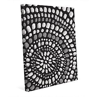Radiant Dots White On Black 24X36 Canvas Wall Art, Black/Gray/White, large