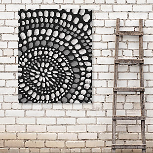 Radiant Dots White On Black 16X20 Metal Wall Art, , rollover