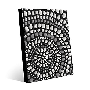 Radiant Dots White On Black 16X20 Metal Wall Art, , large