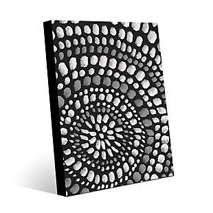 Radiant Dots White On Black 20X24 Metal Wall Art, , large