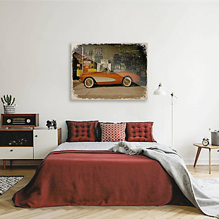 Stopping on Route 66 Slim 24X36 Acrylic Wall Art, Red/Burgundy, rollover