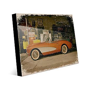 Stopping on Route 66 Slim 24X36 Acrylic Wall Art, Red/Burgundy, large